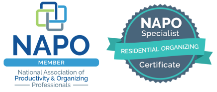 Organizadores de espacios Bogotá Napo Badges
